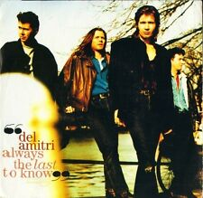 "DEL AMITRI always the last to know/learn to cry AM 870 uk a&m 1992 7"" PS EX/EX"