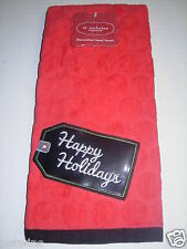 St Nicholas Square Bathroom Bath Hand Towel Christmas Decor Happy Holidays NWT
