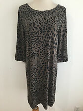 Banana Republic Reversible Boat/V-Neck Animal Print Dress Taupe/Black Size S NWT
