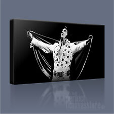 ELVIS PRESLEY ROCK 'N' ROLL LEGEND ICONIC CANVAS ART PRINT PICTURE Art Williams