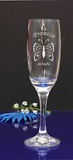 Personalised Engraved Champagne Prosecco Flute Glass Birthday HEN DO PARTY