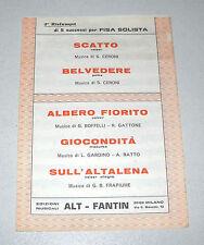 Spartiti 5 SUCCESSI PER FISA SOLISTA Orchestra Liscio Fisarmonica Ceroni