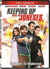 Keeping Up With the Joneses (DVD in a blue ray slipcase) free shipping