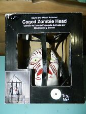Caged Zombie Head Sound and Motion Activated Head Cage