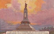 A7524) WW ITALO TURCA, BENGASI, GIULIANA, MONUMENTO AI CADUTI. VIAGGIATA.
