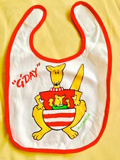 ♥ NEW Baby Imported Kangaroo G Day Red Bib (One size NB to 0-3 months) ♥