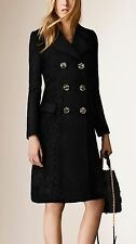 NWT Burberry Prorsum Lace Detail Double-Breasted Macrame Cashmere Trench Coat 6