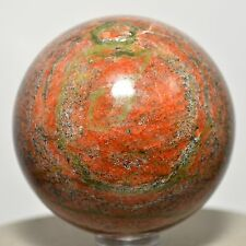 2.1 UNAKITE Sphere Natural Feldspar Orthoclase & Green Epidote Crystal - India