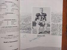 1960  Lehigh  Football Game Program(34 Signed/w/BILL  LECKONBY/WILLIAM T. JONES)