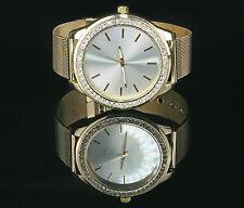 Fantastico oro dorado con pedrería cristales pulsera reloj watch b2-ware u1397-1