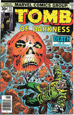 Tomb of Darkness Comic Book #23, Marvel Comics 1976 VERY GOOD+
