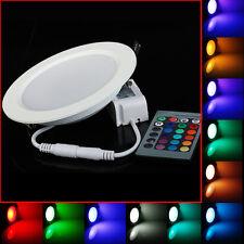 10X 10W RGB Remote LED Panel Deckenleuchte Wandleuchte Lampe Leuchte Licht RUND