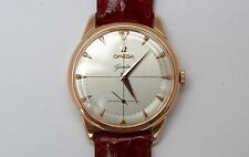 Vintage genuine OMEGA GENEVE 2748 men's 18K gold watch fully revised