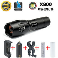 X800 Flashlight LED Zoomable Military Torch G700 ShadowHawk with Battery Charger