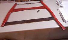 Antique Wisconsin  Bow Buck Saw  Wood Steel   Red Beauty