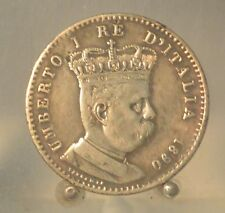 1890 Eritrea (Italian Colony) Silver 1 Lira, Old World Coin