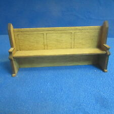1/12th Dolls House Church Pew/Settle 160mm  Signed and Dated Item DHD33 SQ