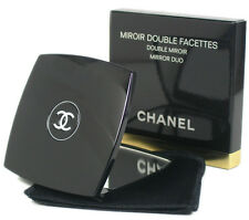 """Chanel 2.75"""" Miroir Double Facettes Makeup Mirror Duo with Pouch"""