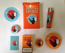 Natural American Spirit gift set ORANGE - tin, pocket-ashtray, bookmark, lighter