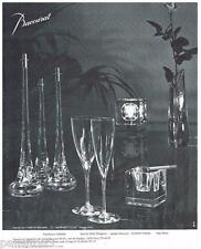 PUBLICITE ADVERTISING 095  1975   CRISTAL BACCARAT  art de la table  flambeaux