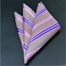 Men's Wedding Party Silk Satin Solid Floral Hanky Pocket Square Handkerchief F02