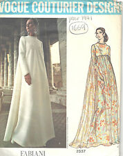1971 Vintage VOGUE Sewing Pattern B36 EVENING DRESS (1669) Fabiani of Italy