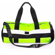 Nwt Victoria's Secret PINK Weekender Duffle Gym Bag Tote Neon Yellow Adjustable