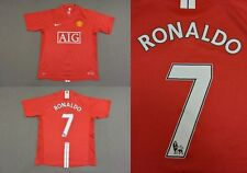 2007-09 nike Manchester United Home Shirt Ronaldo 7 Champions League 2008 SIZE S