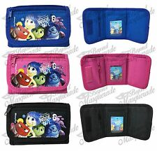 Disney Inside Out Kids Tri-Fold Wallet Coin Purse Bag Set of 3 Wallets