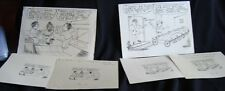 6 sets of old vintage Humorous Cartoons papers from India 1970