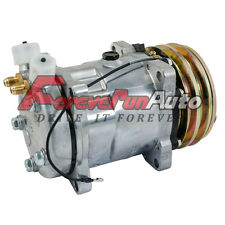 NEW For SANDEN CLONE SD 508 DOUBLE PULLY AC COMPRESSOR AND CLUTCH