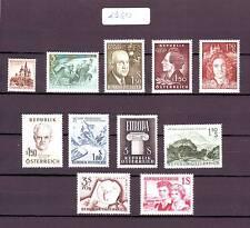 Austria/Österreich 1960 Kompletter Jahrgang mit Freimarken MNH/**/Postfrisch