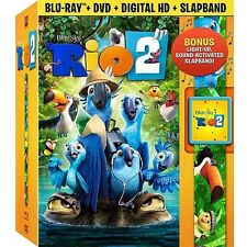 Rio 2  w/ exclusive slapband  dvd blu-ray digital hd gobal shipping