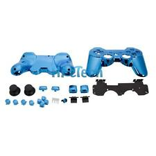 Plastic Cover Shell Case + Buttons Kit for Playstation 3 PS3 Controller Blue