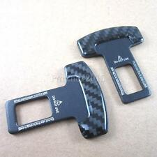 2pcs Real Carbon fiber car safety seat belt buckle alarm stopper clip clamp