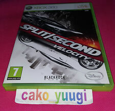 SPLIT SECOND VELOCITY XBOX 360 BON ETAT VERSION 100% FRANCAISE