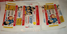 (100) 1966 BEATLES WORLD CANDIES YEAH YEAH CANDY STICKERS OUTSIDE WRAPPERS-WOW!!