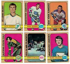 1972-73 OPC NHL Hockey Lot - Pick the cards you need - $2.49 each card