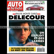 AUTO HEBDO N°764 ROVER 216 GTI VOLVO 480 AYRTON SENNA RALLYE MONTE-CARLO 1991