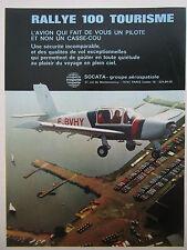 1/1975 PUB SOCATA AEROSPATIALE AVION RALLYE 100 AIRCRAFT FLUGZEUG FRENCH AD