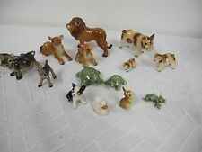 KELVIN BONE CHINA  & HAGEN RENAKER MINIATURE ANIMALS PIG LION COW TURTLE FAMILY