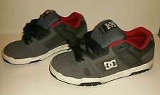 Used Worn Size 12  DC Shoes Stag Skateboard Shoes Gray white red