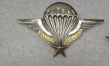 US ARMY , US MADE,CLUTCH BACK PARACHUTE BADGE, FRANCE ARMY