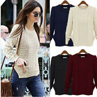 Women's Warm Long Sleeve Knitwear Jumper Cardigan Coat Jacket Sweater AU Warm