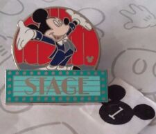 Mickey Mouse Stage Marquee MGM Parking Sign WDW Cast Lanyard Series 3 Disney Pin