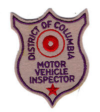 METROPOLITAN POLICE WASHINGTON D.C. (MPDC) 1ST ISSUE MVA INSPECTOR PATCH RARE