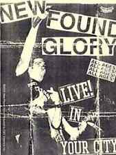 NEW FOUND GLORY Live In Your City Flyer Sticker NEW MERCHANDISE OFFICIAL RARE