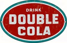 Drink Double Cola Oval Sign 9X14