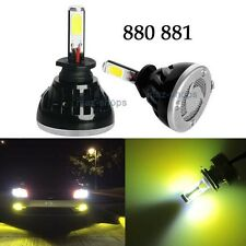 2Pcs 40W 4000LM Bright 880 885 893 COB LED Bulbs 3000K Yellow Fog Lights Lamps