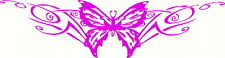 Butterfly Tribal, Windscreen, Car, Wall Art, Pink Sticker Decal 300 x 80mm
